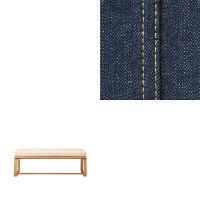 無印良品 綿デニムリビング・ダイニングでも使えるベンチ・1用カバー/ブルー 38936756 良品計画