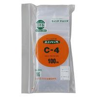 ユニパック(R)(チャック袋) 0.04タイプ C-4 B8 70×100mm 1セット(1000枚:200枚入×5袋) 生産日本社
