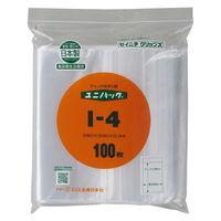 ユニパック(R)(チャック袋) 0.04mm厚 I-4 B5 200×280mm 1セット(500枚:100枚入×5袋) 生産日本社