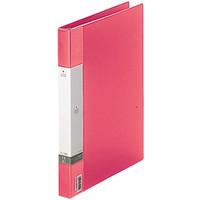 クリヤーブック 差し替え式 30穴 A4タテ 15ポケット 背幅2.5cm 3冊 赤 G3801-3 リヒトラブ