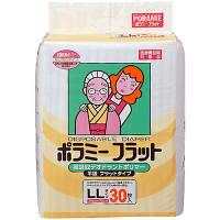 ポラミー フラット LL 1箱(120枚:30枚入×4パック) 川本産業 (取寄品)