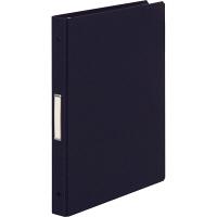 布貼りリングファイル 30穴 A4タテ 背幅34mm 10冊 アスクル ブラック