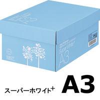 コピー用紙 マルチペーパー スーパーホワイト+ A3 1箱(2500枚:500枚入×5冊) 高白色 アスクル
