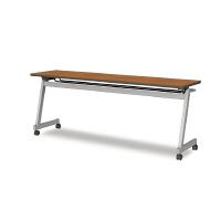 アイリスチトセ フラップテーブルZ型 チーク  幅1500×奥行450×高さ700mm 1台(直送品)