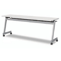 アイリスチトセ フラップテーブルZ型 ライトグレー 幅1800×奥行600×高さ700mm 1台 (直送品)