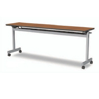 アイリスチトセ フラップテーブルT型 チーク 幅1500×奥行450×高さ700mm 1台 (直送品)
