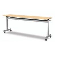 アイリスチトセ フラップテーブルT型 シルクウッド 幅1800×奥行600×高さ700mm 1台 (直送品)