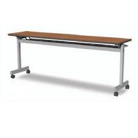 アイリスチトセ フラップテーブルT型 チーク 幅1800×奥行600×高さ700mm 1台 (直送品)