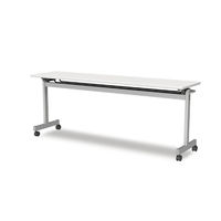 アイリスチトセ フラップテーブルT型 ライトグレー 幅1800×奥行600×高さ700mm 1台 (直送品)