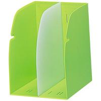 リヒトラブ ブックスタンド 黄緑 1セット(2個:1個×2)