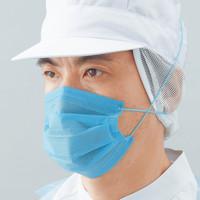 混入対策マスク ブルー 2層式 オーバーヘッドタイプ No.2834 1000枚(100枚入×10箱)リーブル