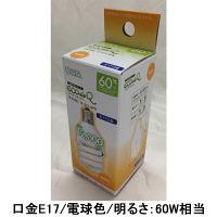 オーム電機 エコ電球D型60WE17電球色 EFD15EL/12-E17-SPN 1箱(12個入)