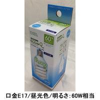 オーム電機 エコ電球D型60WE17昼光色 EFD15ED/12-E17-SPN 1箱(12個入)