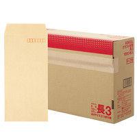 アスクル オリジナルクラフト封筒 テープ付 長3〒枠あり 3000枚