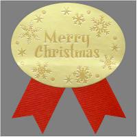 【クリスマス】 ラッピング シール ギフトシール Merry Xmas 1袋(100枚入)