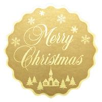 【クリスマス】 ラッピング シール アドテープ Merry Xmas 1巻(500片)