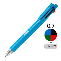 多機能ボールペン クリップ-オンマルチF フレッシュブルー軸 青 4色+シャープ 3本 B4SA1 ゼブラ