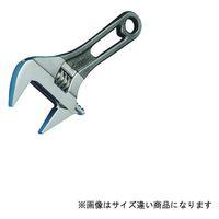 スーパーツール ワイドモンキ レンチショートタイプ(クリアグレー)口開:0~24 MWM24SH 1丁 344ー8622 (直送品)