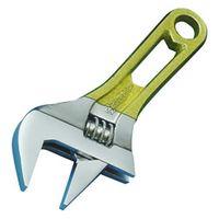 スーパーツール ワイドモンキ レンチショートタイプ(クリアイエロー)口開:0~30 MWM30SY 1丁 344ー8681 (直送品)