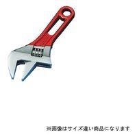 スーパーツール ワイドモンキレンチショートタイプ(クリアレッド)口開:0~24 MWM24SR 1丁 344-8631 (直送品)