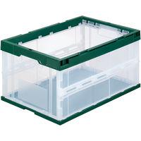 アスクル 折りたたみコンテナ フタ無 40L 1セット(10個:5個入×2箱)