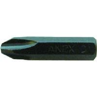 兼古製作所 アネックス インパクトドライバー用ビット +3×36 対辺8mm六角軸 AK21P336 1本 275ー9845 (直送品)