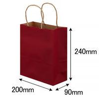 丸紐 手提げ紙袋 赤 SS 300枚