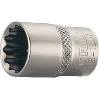 トラスコ中山(TRUSCO) ソケット 12角タイプ 差込角9.5 対辺18mm T3-18W 1個 301-3286 (直送品)
