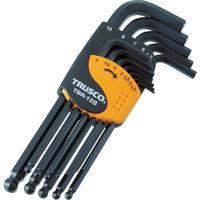 トラスコ中山 TRUSCO ボールポイント六角棒レンチセット 標準タイプ 12本組 TBR12S 1セット 366-8819 (直送品)