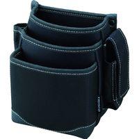 トラスコ中山 TRUSCO 腰袋 3段 携帯電話ホルダー付き ブラック TWP3BK 1個 365ー6195 (直送品)