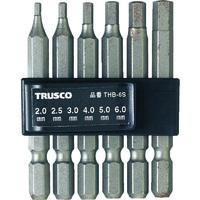 トラスコ中山 TRUSCO 六角ビットセット THB6S 1セット(6本:6本入×1セット) 330ー4019 (直送品)