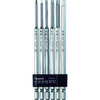 トラスコ中山(TRUSCO) ロング六角ビットセット THBL-6S 1セット(6本) 352-3748 (直送品)