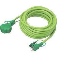 トラスコ中山(TRUSCO) トリプルポッキン延長コード 10m 緑 TPVS-10E GN 1本 256-2723 (直送品)