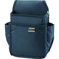 トラスコ中山(TRUSCO) 小型腰袋 二段 ブラック TC51BK 352-4591 (直送品)
