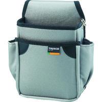 トラスコ中山 TRUSCO 小型腰袋 二段 グレー TC51GY 1個 352ー4639 (直送品)