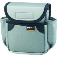 トラスコ中山(TRUSCO) 小型腰袋 二段フタ付 グレー TC-52GY 1個 352-4540 (直送品)