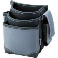 トラスコ中山(TRUSCO) 腰袋 3段 携帯電話ホルダー付き グレー TWP3GY 365-6217 (直送品)
