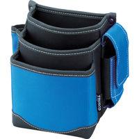 トラスコ中山(TRUSCO) 腰袋 3段 携帯電話ホルダー付き ブルー TWP3BL 365-6209 (直送品)
