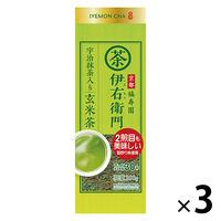 宇治の露製茶 伊右衛門 抹茶入り玄米茶 1セット(200g×3袋)
