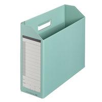 プラス ボックスファイル A4ヨコ 背幅100mm グリーン 87530 1袋(10冊入) 業務用パック