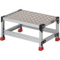 TRUSCO(トラスコ中山) 作業用踏台 アルミ製・縞板タイプ 30cm TSFC163 1台 336-5093 (直送品)
