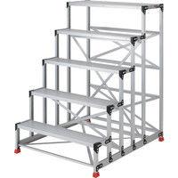 TRUSCO(トラスコ中山) 作業用踏台 アルミ製・高強度タイプ 5段 150cm TSF51015 1台 262-1681 (直送品)