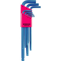ボンダス(BONDHUS) ボンダス ボールポイント・L-レンチセット ロング 9本組(1.5-10mm) BLX9M 125-3948(直送品)