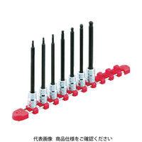 京都機械工具 KTC 9.5sq.ロングヘキサゴンビットソケットセット[9コ組] TBT3L09H 1セット 307ー7497 (直送品)