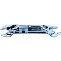 ASAHI(旭金属工業) ASH ライツールやり形両口スパナセット6丁組 LEXS6 1セット 212-0739 (直送品)
