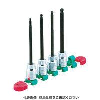 京都機械工具 KTC 12.7sq.ロングボールポイントヘキサゴンビットソケットセット 4コ組 TBT4L04BPH  307ー7543 (直送品)