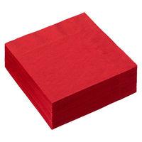溝端紙工印刷 カラーナプキン 4つ折り 2PLY イタリアンレッド 1セット(200枚:50枚入×4袋)
