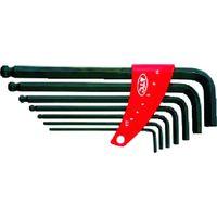 京都機械工具 KTC ボールポイントL形ロング六角棒レンチセット[7本組] HL257 1セット(7本:7本入×1セット) 373-4544 (直送品)