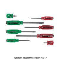 京都機械工具 KTC 樹脂柄ドライバセット貫通タイプ[8本組] PMD18 1セット 373ー7268 (直送品)
