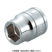 京都機械工具 KTC 9.5sq.ソケット(六角)22mm B322 1個 307ー3718 (直送品)